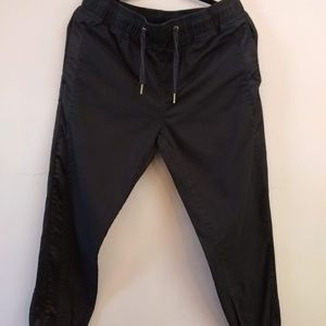 Adam Levine Men's Black Track Jogger Pants Medium